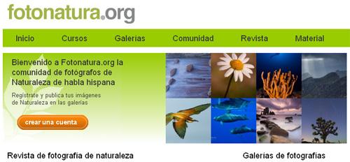 Web Fotonatura.org (imagen usada con permiso)